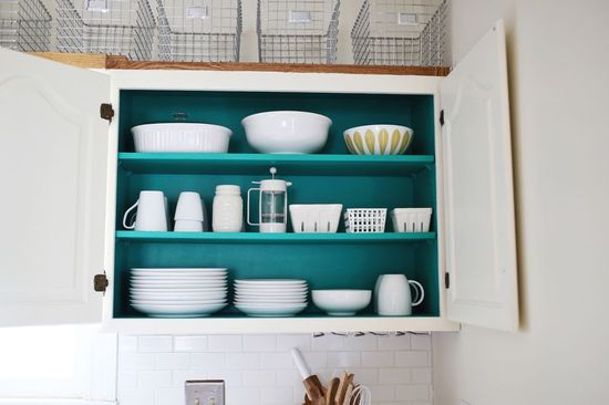 Paint inside your cabinets