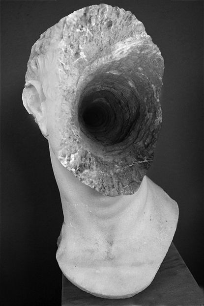Bust sculpture in marble