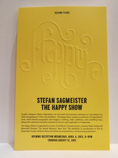 Stefan Sagmeister Happy Show exhibition invitation