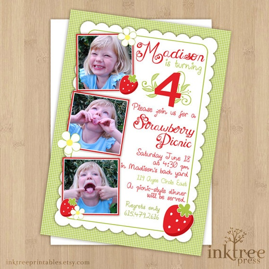 Strawberry Party :: invitation