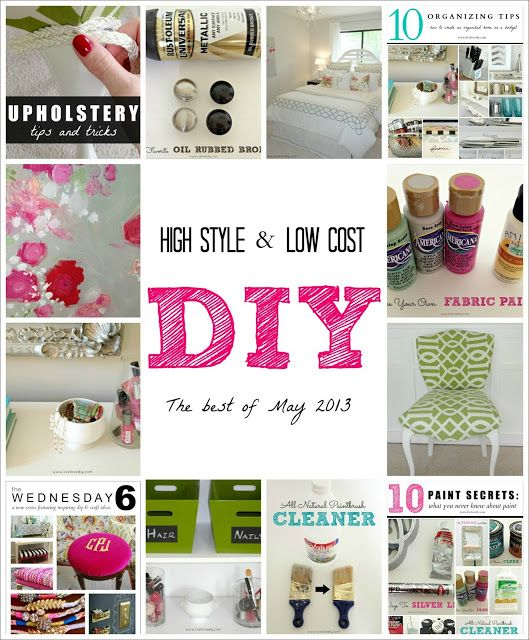 High Style & Low Cost DIY Ideas: The Best of May