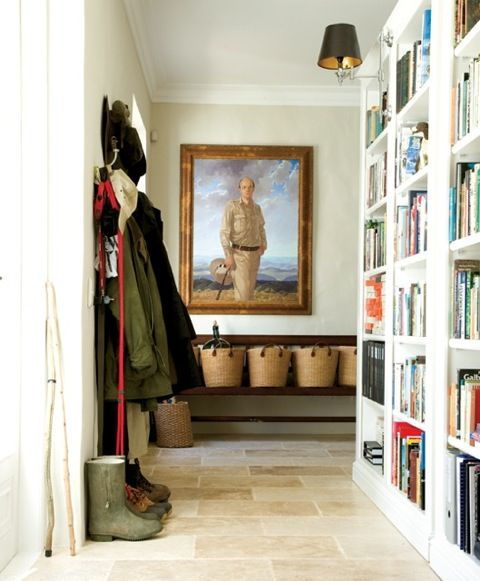 Library mudroom; Serena Crawford