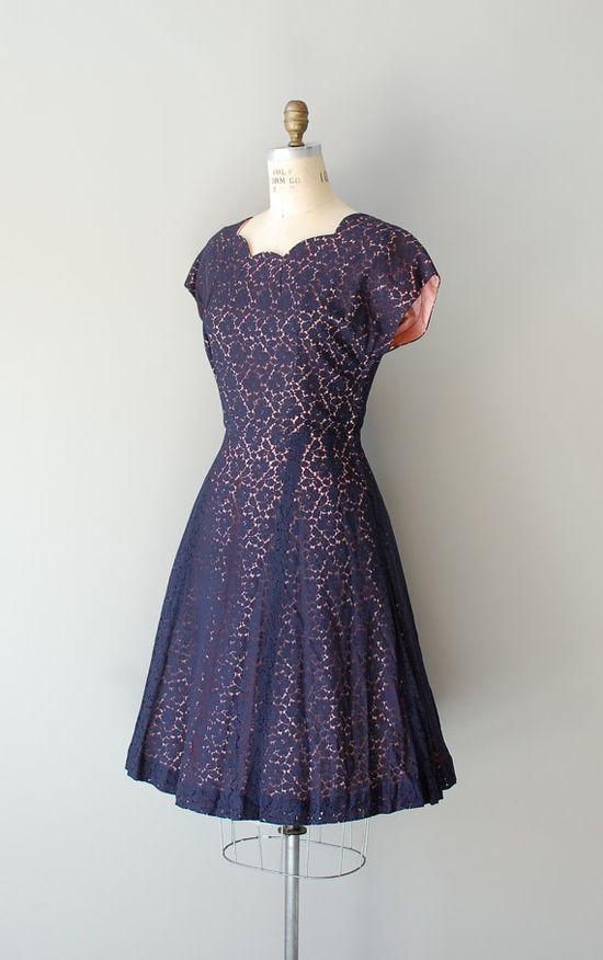 1950s Mood Indigo lace dress