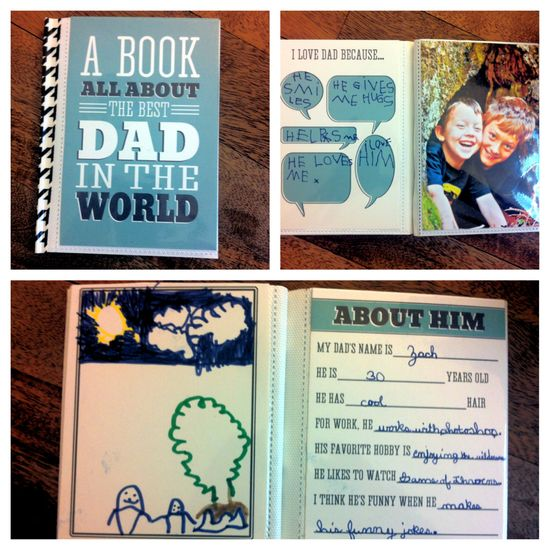 From baby to dad 10 homemade fathers day gift ideas fit mama book about dad solutioingenieria Images