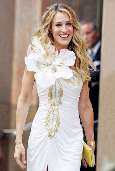 Sarah Jessica Parker as Carrie Bradshaw in Sex and the City: The Movie.