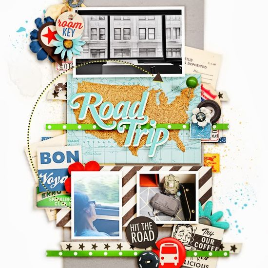 #papercraft #scrapbook #layout #Travel Weekend // Scrapbook Layouts // New Releases // No. 6