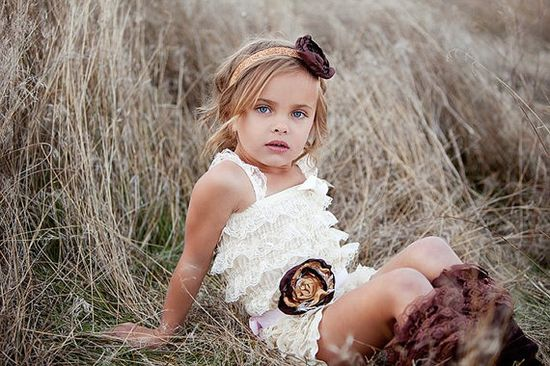 READY TO SHIP shabby chic lace ruffle rompers with by londonraquel, $24.99