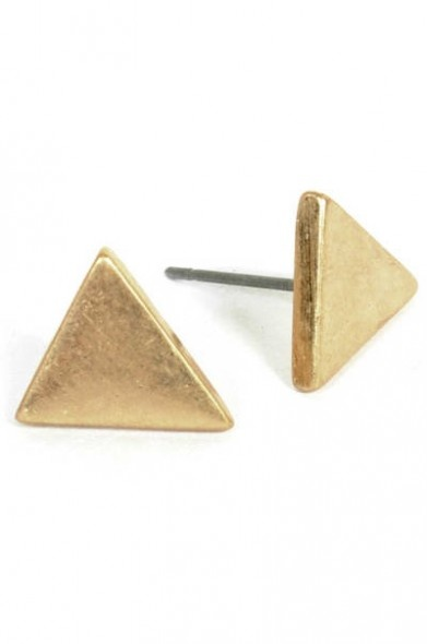 Tiny Triangle Earrings from Style Lately