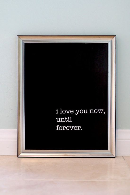 I love you now, until forever, CityAndSeaDecor, #Etsy