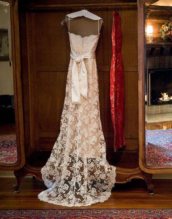 Full Length Lace Wedding Dress - Inspired by Jim Hjelm JH8763