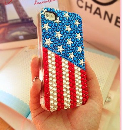 Handmade iPhone 4 4s Case, Bling Bling Rhinestone