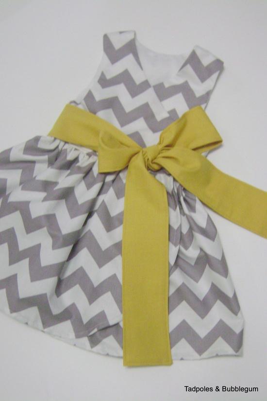 Girls Chevron Wrap Dress. $38.00, via Etsy. awww flower girl dress?