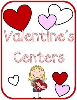 12 Hands-On Valentine's Literacy Centers