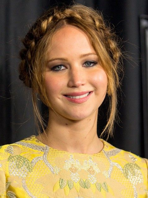 30 braids you can do yourself.    Jennifer Lawrence's Braided Hairstyle