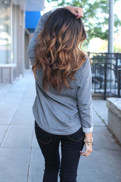 Cool Straight Hair Styles Love Her Hair Style The Color