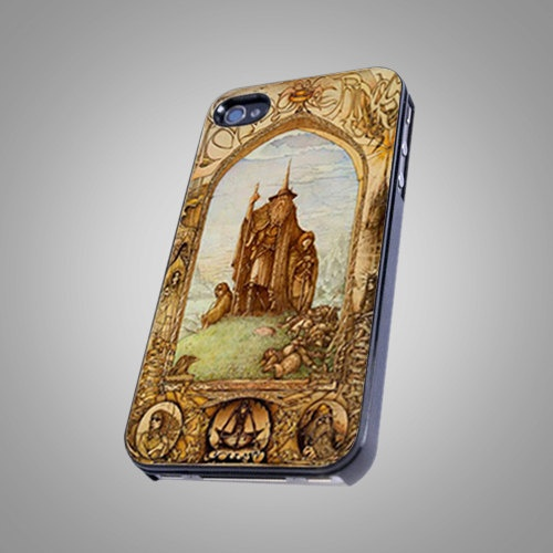 Map Middle Earth Lord Of The Ring Design - iPhone 4 / 4S Case, iPhone 5 Case - Black, White, Clear. $14.99, via Etsy.