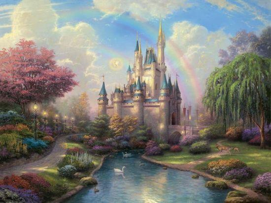 Thomas Kinkade Cinderella Castle