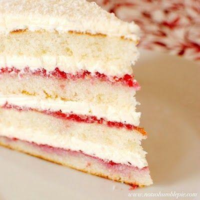 raspberry lemon cake w buttercream frosting