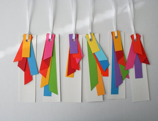 colourful gift tags  set of 6  A rainbow colour by naneHandmade, $ 10.00
