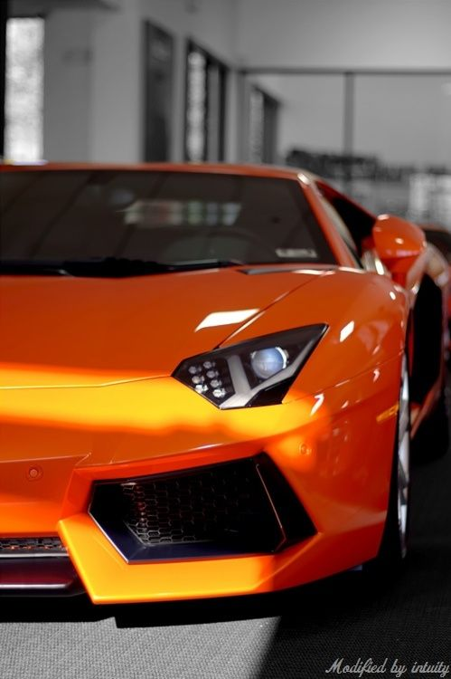 If you buy an expensive sports car, surely orange is the only way to