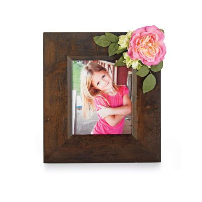 flowered picture frame