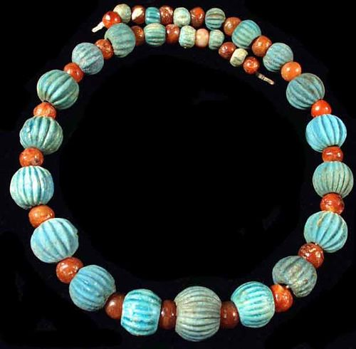 Ancient Egyptian necklace...turquoise.