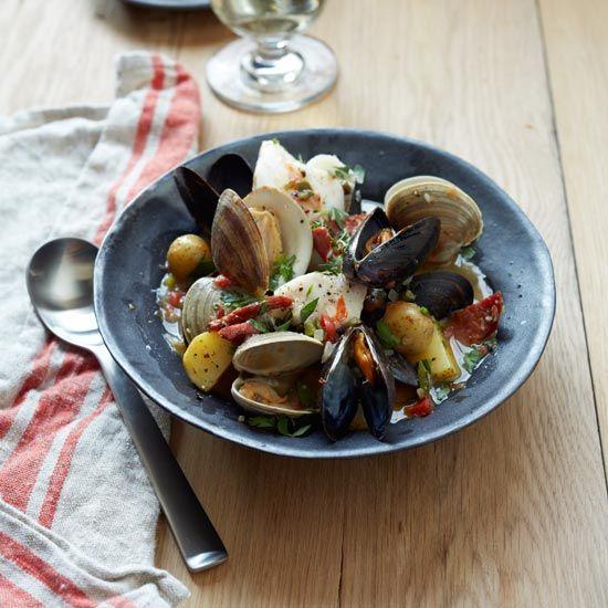 Ed's Portuguese Fish Stew // More Great Portuguese Recipes: www.foodandwine.c... #foodandwine