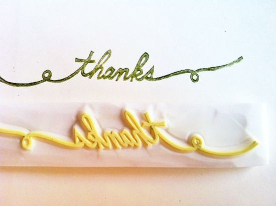 thanks hand carved rubber stamp. hand carved stamp. thanks rubber stamp.. $14.00, via Etsy.