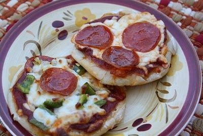 Mommy's Kitchen: Easy Mini Kid Size Pizza's using frozen roll dough.