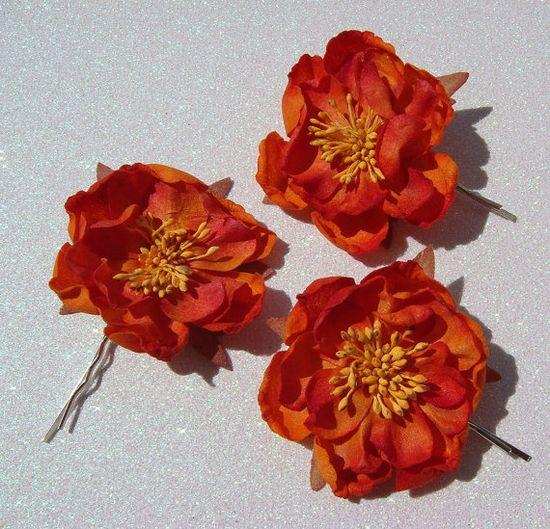 orange hair flower