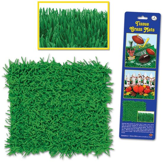 Amazon.com: Pkgd Tissue Grass Mats (green) Party Accessory (1 count) (2/Pkg): Toys & Games