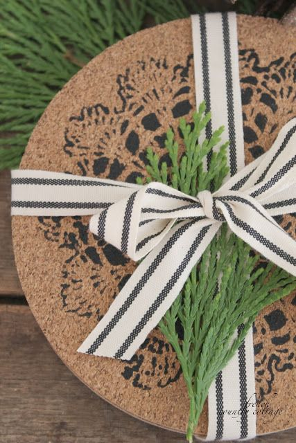 FRENCH COUNTRY COTTAGE: Cork coasters~diy gifts
