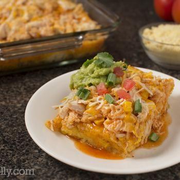 Chicken and Corn Enchilada Casserole from Wholly Guacamole