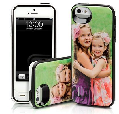 There are no lack of cool battery charging cases and battery charging packs out there, but none like these. That's because it's customized with your own photos.