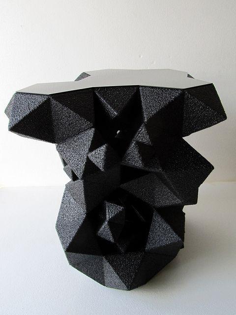 """Modern Primitive"" side-table from NYC-based Aranda/Lasch."