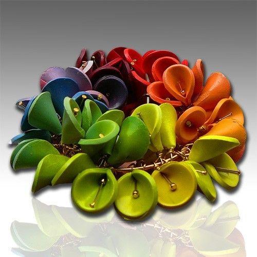 Polymer clay bracelet