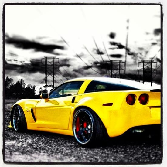 Spectacular yellow Corvette