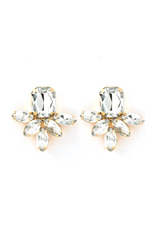 Deco Aife Earrings in Crystal