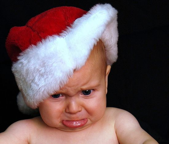 not a happy santa baby....