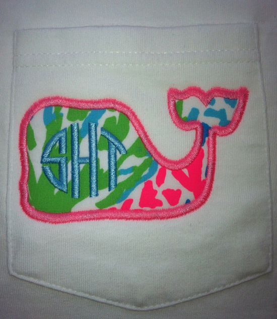 Everything beautiful rolled into one: frocket, whale, Lilly, & monograms