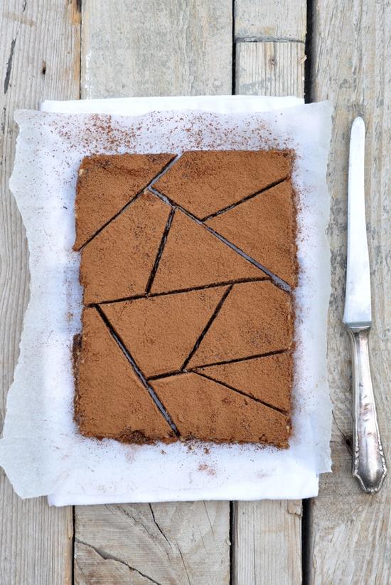 ... frozen chocolate nut bars ...