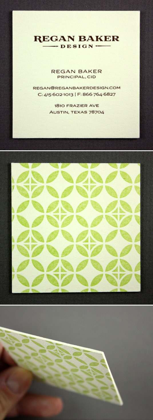 Regan Baker Design  {Very thick cream cardstock, beautiful pattern - one of my personal favorites}