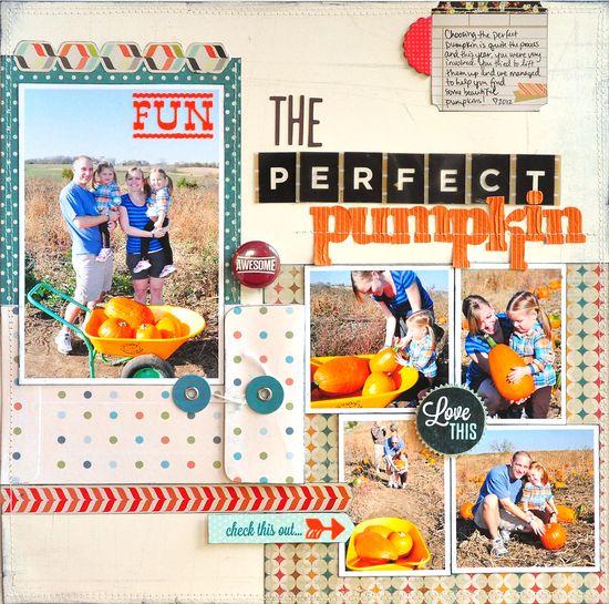 #papercraft #scrapbook #layout The Perfect Pumpkin ~Scrapbook Circle~ - Scrapbook.com