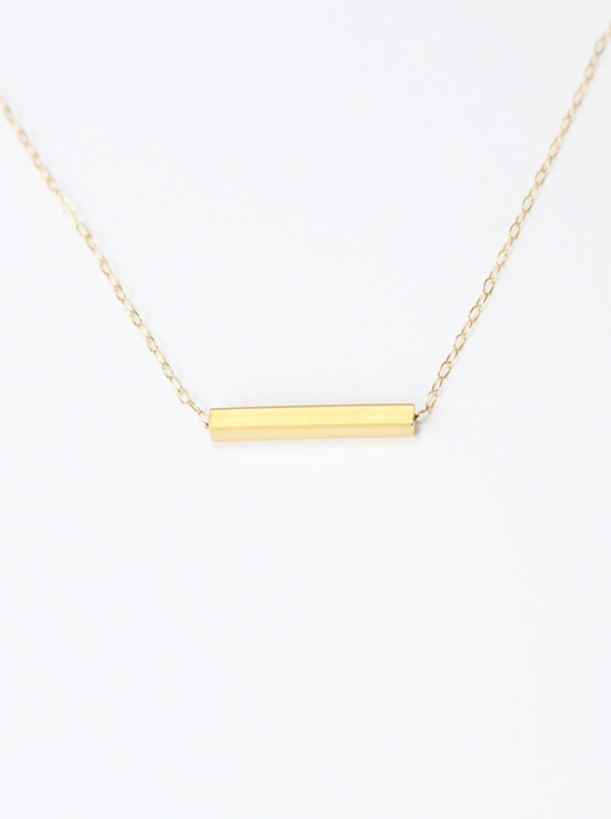 Gold bar necklace // Simply Lovely on Etsy