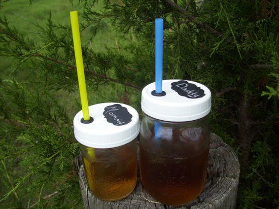 Mason Jar Drinking Glass Tumbler Child Proof by DownInTheBoondocks, $4.00