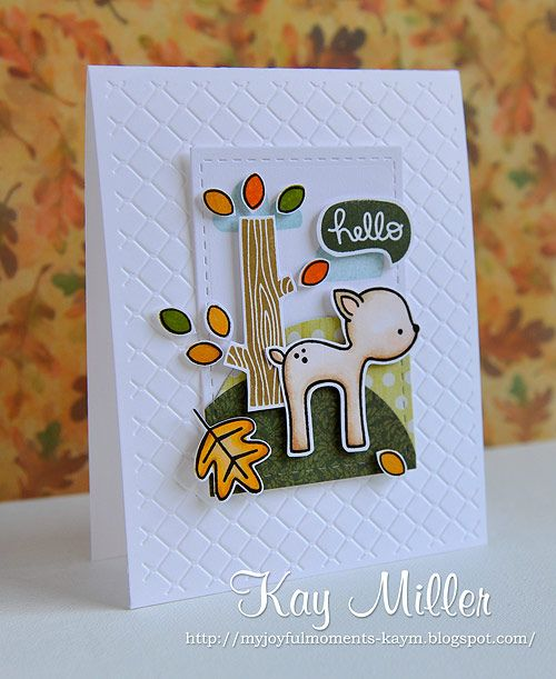 Lawn Fawn - Into the Woods _ adorable card by Kay!