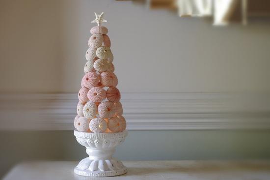 Beach Decor Sea Urchin Tree - 11 in tall - Beach Decor - Christmas Decor - Wedding Decor. $64.00, via Etsy.