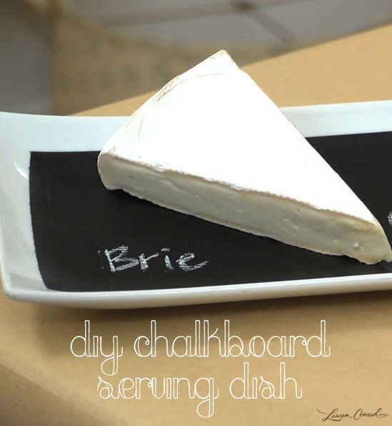 DIY Chalkboard Serving Dish #CraftyCreations