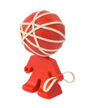 Rubber Band Holder - Such a cheery desk accessory!