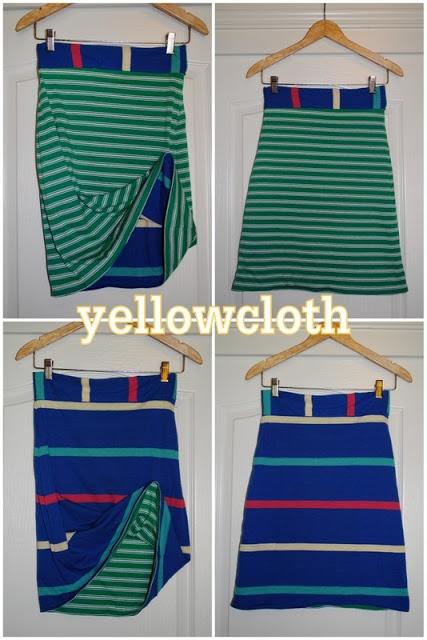 yellowcloth: reversible skirt tutorial - I would use different fabrics but super cute idea!
